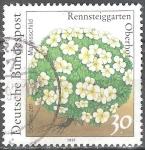 Sellos de Europa - Alemania -   Plantas en el  Jardín Rennsteig en Oberhof (Androsace helvetica ).