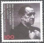 Sellos del Mundo : Europa : Alemania : Nac. Cent de Julius Leber,político, diputado del Reichstag y combatiente de la resistencia.