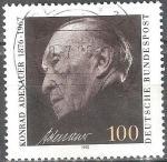 Sellos del Mundo : Europa : Alemania : 25a muerte Anniv. de Konrad Adenauer,primer canciller federal.