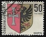 Sellos de Europa - Checoslovaquia -  Escudo de armas de manětín