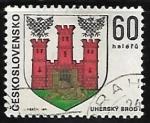 Sellos de Europa - Checoslovaquia -  Escudo de armas de Uherský Brod