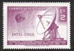 Sellos de America - Chile -  Antena parabólica y satélite
