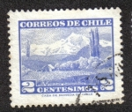 Stamps Chile -  Volcán Choshuenco (pequeño)