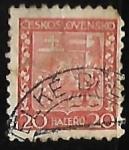 Stamps Czechoslovakia -  Escudo de armas