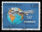 Stamps : America : Colombia :  Colombia-cambio