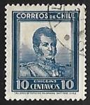 Sellos de America - Chile -  Bernardo O'Higgins Riquelme