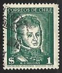 Stamps Chile -  Bernardo O'Higgins Riquelme