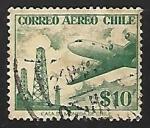 Sellos del Mundo : America : Chile : Avion