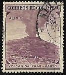Stamps Colombia -  Volcan Galeras - Pasto