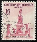 Stamps : America : Colombia :  Monumento a Bolivar