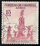 Sellos de America - Colombia -  Monumento a Bolivar