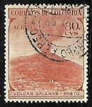 Stamps : America : Colombia :  Volcán Galeras - pasto