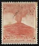 Stamps America - Colombia -  Volcán Galeras - pasto