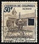 Stamps : America : Colombia :  El mono de la pila Tunja