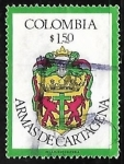 Sellos del Mundo : America : Colombia : Escudo oficial de Cartagena de Indias