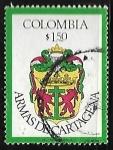 Sellos de America - Colombia -  Escudo oficial de Cartagena de Indias