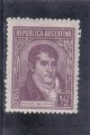Stamps Argentina -  MANUEL BELGRANO