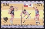 Sellos de America - Chile -  seúl 88