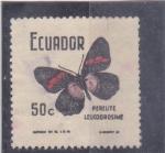 Stamps America - Ecuador -  MARIPOSA