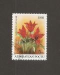 Sellos del Mundo : Asia : Azerbaiyán : Flor Tulipa  florenskyii