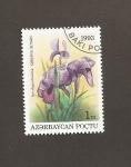 Stamps : Asia : Azerbaijan :  Flor Iris elegantissima