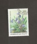 Sellos del Mundo : Asia : Azerbaiyán : Flor Puschkinia seltoides