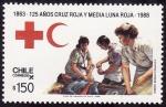Stamps Chile -  125 años de cruz roja y media luna roja
