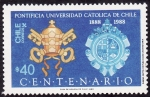 Sellos del Mundo : America : Chile : PONTIFICIA UNIVERSIDAD CATÓLICA DE CHILE