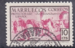 Stamps : Africa : Morocco :  caballos