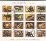 Stamps United Arab Emirates -  Animales en peligro de extinción