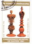 sello : Africa : Santo_Tomé_y_Principe : CAMPEONATO MUNDIAL DE AJEDREZ