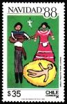 Sellos de America - Chile -  NAVIDAD 88