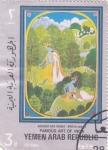 Stamps : Asia : Yemen :  ARTE DE LA INDIA