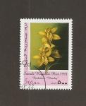Stamps : Africa : Somalia :  Flor Cimbidium