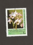 Sellos del Mundo : Africa : Somalia : Flor Dendrobium stella