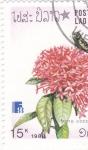 sello : Asia : Laos : flores-