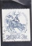 Stamps : Asia : Sweden :  CABALLERO MEDIEVAL