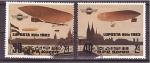 Stamps North Korea -  correo en dirigible