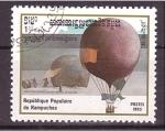 Stamps Cambodia -  serie-dirigibles