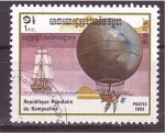 Stamps Cambodia -  serie- Dirigibles