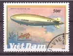 Stamps Vietnam -  serie- Dirigibles