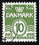 Sellos de Europa - Dinamarca -  Olas - numero 10