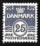 Sellos del Mundo : Europa : Dinamarca : Olas - numero 25