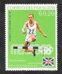 Stamps : America : Paraguay :  1002 - David Hemery, obstáculos, vencedor en los juegos olímpicos de Mexico 68