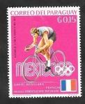 de America - Paraguay -  1001 - Daniel Rebillard, ciclismo, vencedor en los juegos olímpicos de Mexico 68