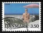 Sellos de Europa - Dinamarca -  Playa en Fand Island