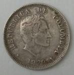 monedas de America - Colombia -  1940 plata 10 cent