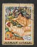 Stamps United Arab Emirates -  Ajman - Pintura de Renoir