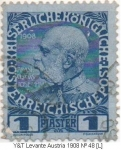 Stamps Austria -  Levante Y & T Nº 48