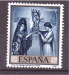 Stamps Spain -  día del sello- romero de torres